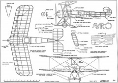 AVRO 511 Arrowscout-George Meyer model airplane plan