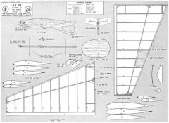 AV 10 glider model airplane plan