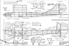 AV Roe 1911 Biplane model airplane plan