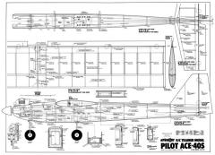 Ace 40S 56in model airplane plan