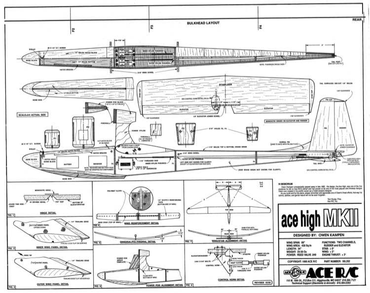 Ace High MkII model airplane plan
