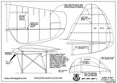 Acro-Fury RCM-569 model airplane plan