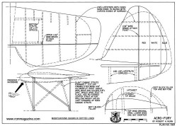 Acro-Fury model airplane plan
