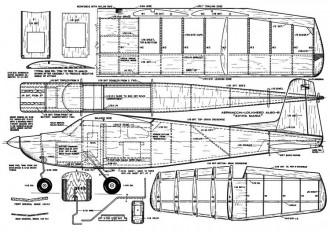 Aermacchi Santa Maria model airplane plan