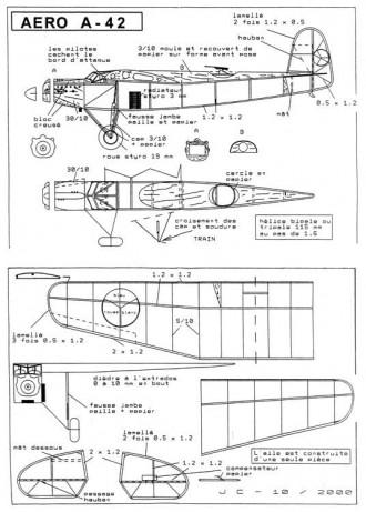 Aero A-42 peanut model airplane plan
