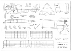 Aero A14 24in model airplane plan
