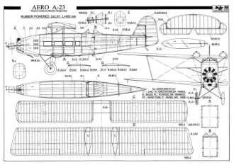 Aero A23 model airplane plan