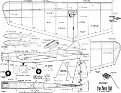 Aero Bat Stunt 31in model airplane plan