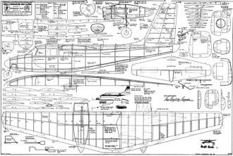 Aero Commander680 Super model airplane plan