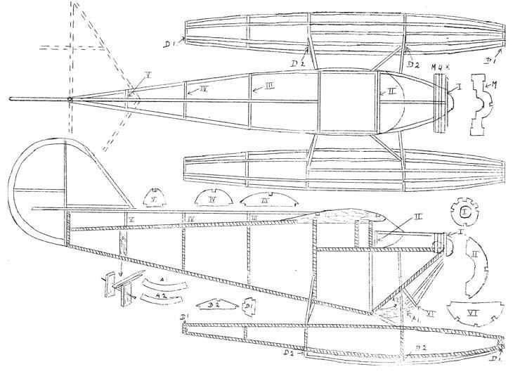 Aeronca Floatplane model airplane plan