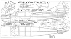 Aeronca Sedan model airplane plan