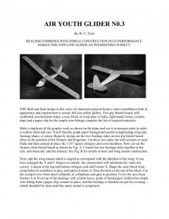 Air Youth Glider No.3 model airplane plan