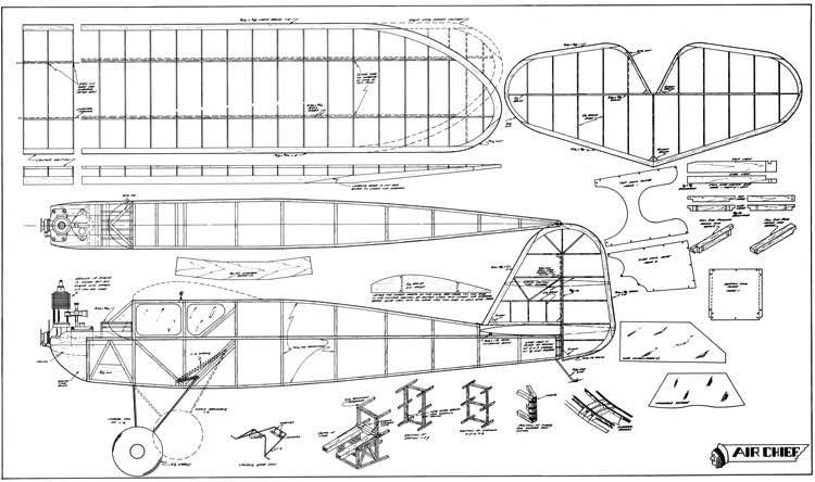 Air Chief model airplane plan