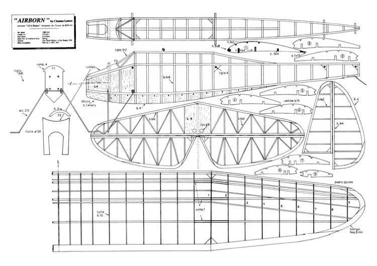 Airborn model airplane plan