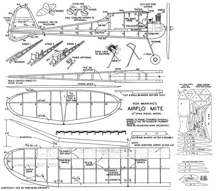 Airflo Mite model airplane plan