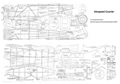 Airspeed Courier model airplane plan
