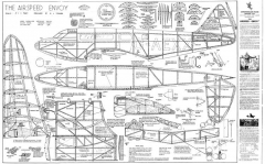 Airspeed Envoy model airplane plan