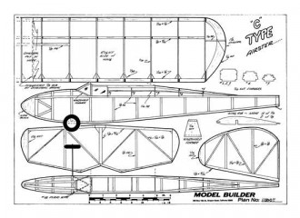 Airster C model airplane plan