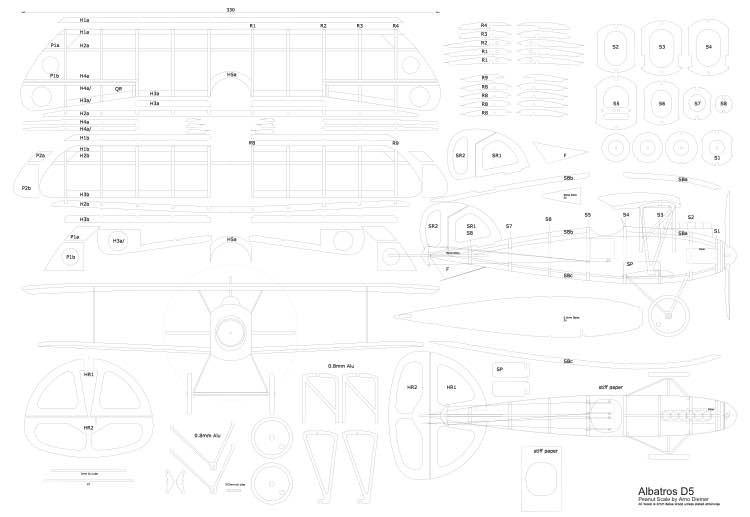 Albatros-D5-Peanut-Arno-Diemer-vec model airplane plan