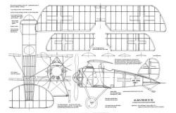 Albatros D-XI model airplane plan