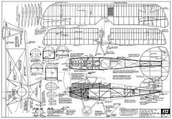 Albatros D.III model airplane plan