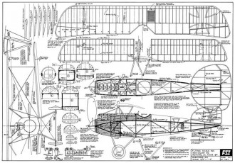 Albatros D.III model airplane plan