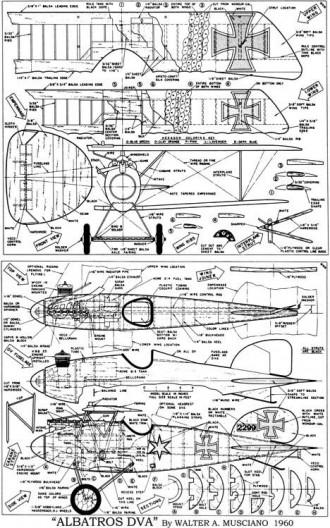 Albatros D.Va model airplane plan