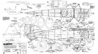 Albatros DV/DVa model airplane plan