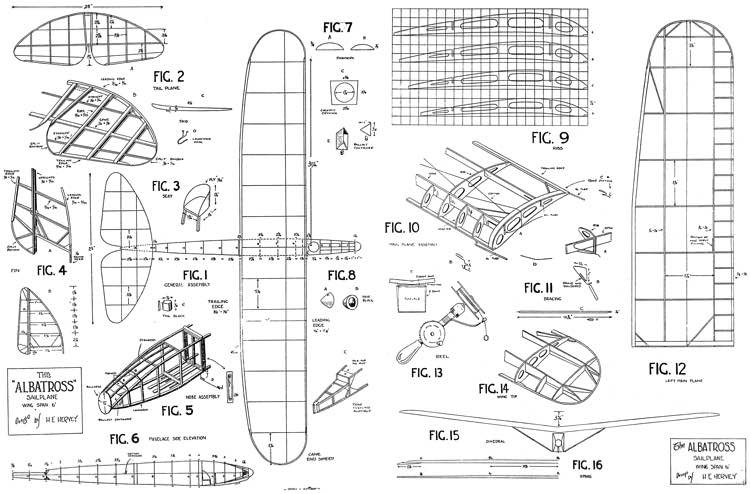 Albatross 72in model airplane plan