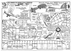 Albert TE1 model airplane plan