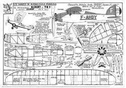 Albert TE1 model airplane plan