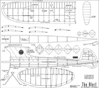 Alert 1942 53in model airplane plan