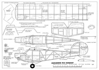 Alexander Flyabout model airplane plan