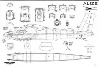 Alizé model airplane plan
