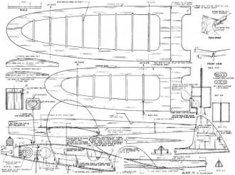 Alkie IV 30in model airplane plan