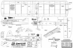 All American 36in model airplane plan