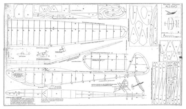 Allievo model airplane plan
