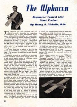 Alphacon model airplane plan