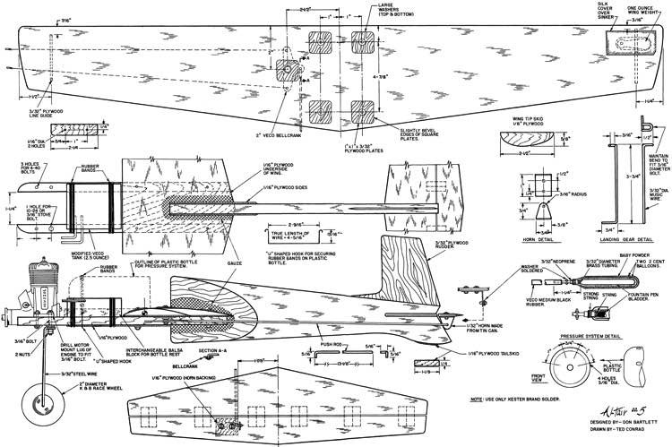 Altair 5 30in model airplane plan