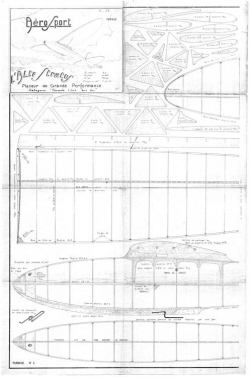 Alto Stratus 1943 model airplane plan