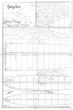 Alto Stratus 1943 model airplane plan