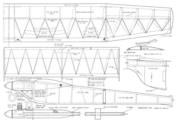 Amazoom 400 model airplane plan