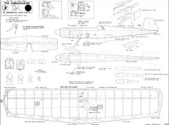 Ambassador 36in model airplane plan