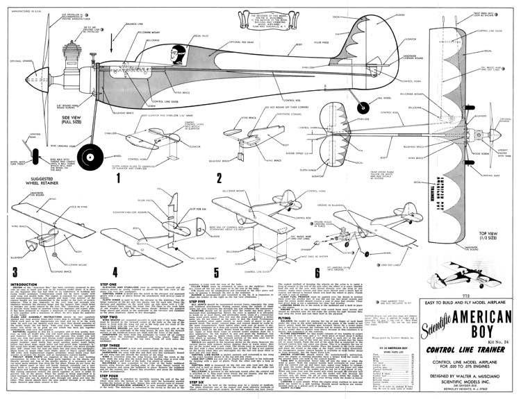 American Boy model airplane plan