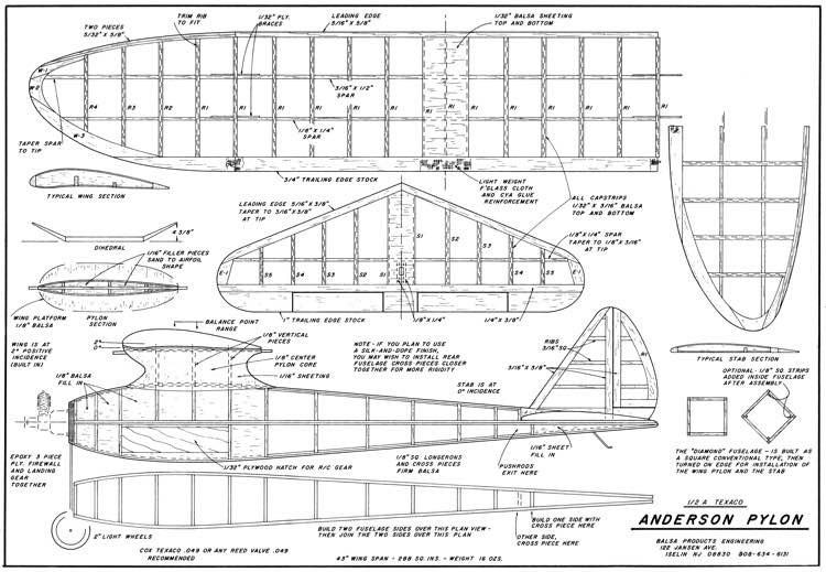 Anderson Pylon-BPE model airplane plan