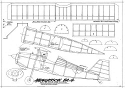 Andreasson BA-4 model airplane plan