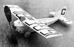 Anec 1A model airplane plan