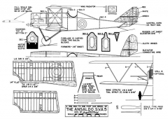 Ansaldo SVA-5-MAN-01-47 model airplane plan
