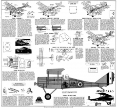 Ansaldo SVA-5 model airplane plan