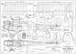 Ansaldo SVA 5 CL 31in model airplane plan